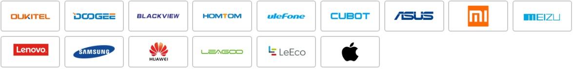 Dostupné značky mobilov na aliexpresse