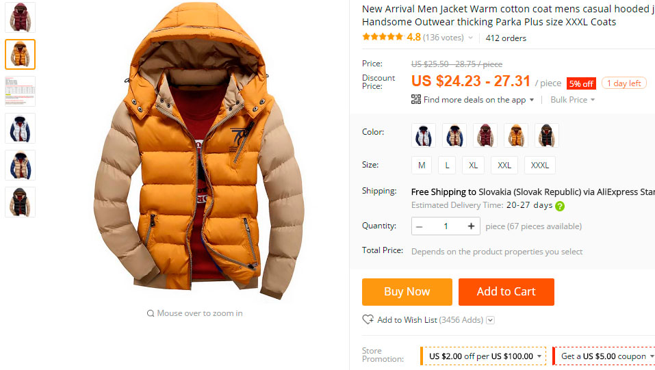 Men Jacket on Aliexpress