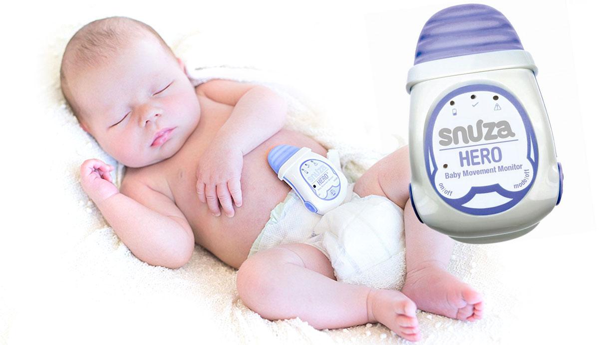 pelenkára erősíthető baba légzésmonitor