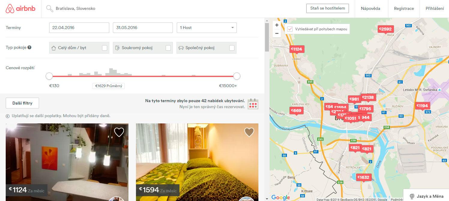 Ubytovanie v Bratislave cez Airbnb.com