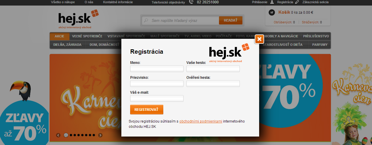 hej.sk registr