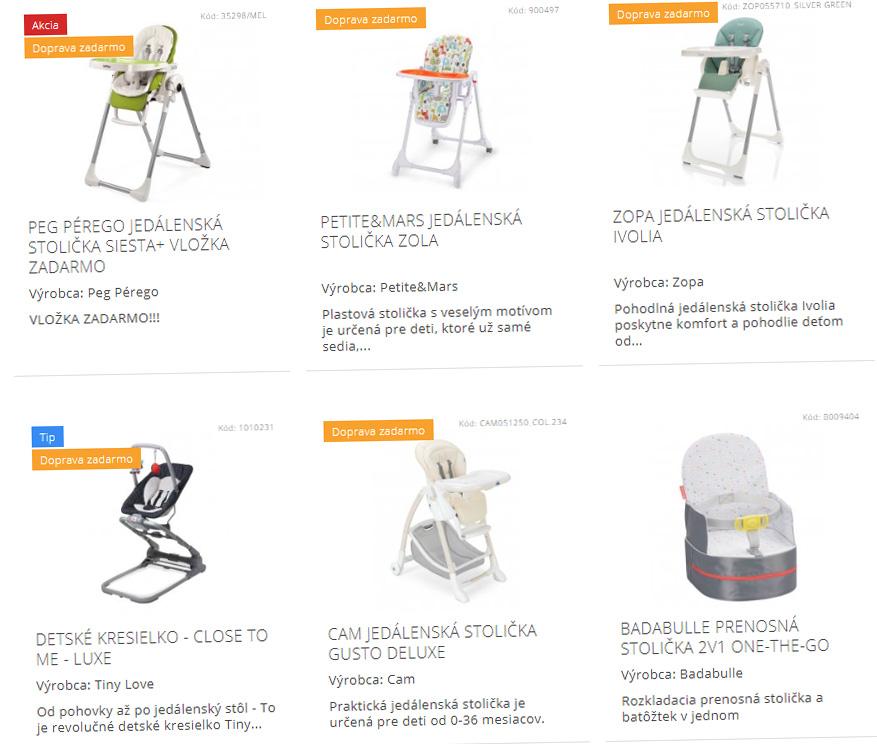 detske stoličky