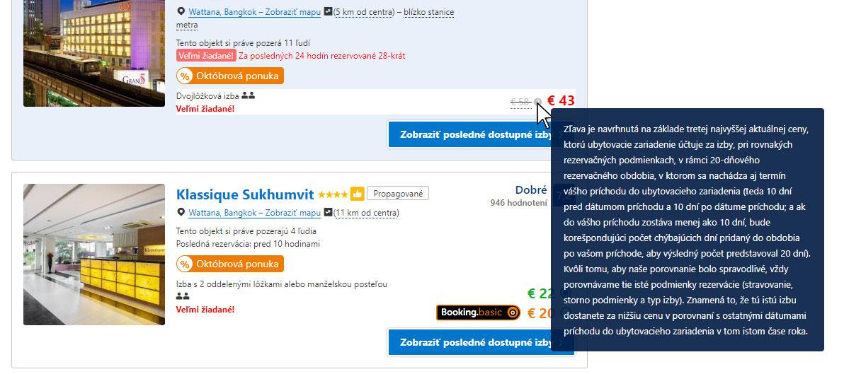 Zľava na portály Booking.com